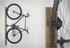 Built in the USA from quality materials (solid hardwood and powder coated steel), this vertical bike rack is designed to look just as good with or without your most prized possession. Available in a choice of maple or walnut