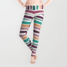 #leggings #clothing #stripes #strokes #marsala #teal