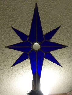 Star of Bethlehem Tree Topper Stained Glass North by cityfreeglass Stained Glass Studio, Star Of Bethlehem, Tree Toppers, Holidays And Events, Fused Glass, Ceiling Fan, Glass Art, Stars, Christmas