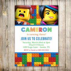 Lego Movie Birthday Invitation Lego Birthday LEGO by LovelyDivine9, $12.00