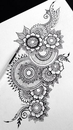 intricate flower doodles - Google Search