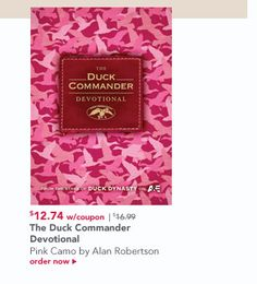 The Duck Commander Devotional – Pink Camo by Alan Robertson