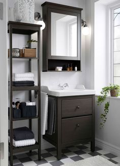 Make The Most Out Of Small Bathroom Spaces Like Using HEMNES Sink Cabinet Shelf And Mirror To Stay Organized In Style