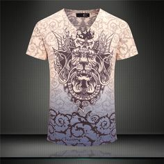 Top Men'S summer T-Shirt Casual T-Shirt Tops Type:Tees Pattern Type:Print Sleeve Style:conventional Style:Active Fabric Type:Broadcloth Material:Cotton,Lycra Collar:V-Neck Top Men'S summer T-Shirt Casual T-Shirt