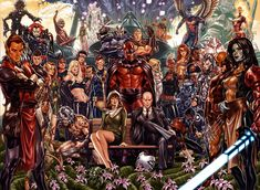 HoX/PoX Covers by Mark Brooks Marvel Comic Universe, Comics Universe, Marvel Art, Comic Book Collection, Image Painting, Man Wallpaper, Comic Book Covers, Book Images, Avengers Infinity War