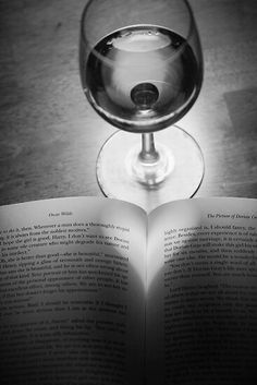*Love a glass of wine & a good book.  <3