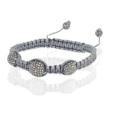 Grace and compliance flourish in this prominent very elegant Silver Bracelet. A Gorgeous modern Bracelet Handcrafted design is exquisitely rendered in warm lustrous 925 Sterling Silver with an Array Of Diamonds. A Loving Gift for your loved one this Christmas Let your Love know your True Heart Feelings.