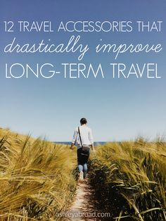 I've spent months, if not years, living out of a backpack. By the end of my year-long RTW trip, I had gotten packing down to a science and could pack and repack in thirty seconds or less (thank you, packing cubes). The following are my top twelve travel essentials for long-term trips.