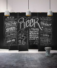 Neoteric Chalkboard Wall Decor Black Beer Themed Milton King Mural Wallpaper Republic Kitchen Decorating Idea Hobby Lobby With Hook Decorative Hanging Calendar Mounted Paint Chalkboard Bar, Chalkboard Designs, Black Chalkboard, Chalkboard Calendar, Graphic Wallpaper, Unique Wallpaper, Wallpaper Ideas, Man Cave Designs, Bares Y Pubs