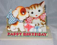 Retro 1950's Birthday Card-Unused by AmeliaBedeliaVintage on Etsy