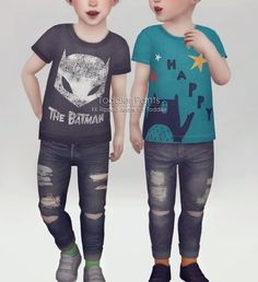 Ripped jeans for Toddler at KK's Sims4 – ooobsooo • Sims 4 Updates