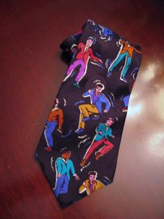 "Collectible Elvis Presley Silk Tie ""All Shook Up"" from Graceland Dancing Elvis #ElvisPresleyEnterprises #NeckTie"