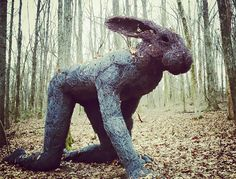 """""""Crawling Lady Hare"""" by Sophie Ryder is one of the remarkable works in Cheekwood's Woodland Sculpture Trail."""