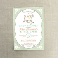 Blue little lamb baby shower invitations lamb baby showers and baby lamb baby shower invite little lamb baby shower invitation vintage baby lamb gender neutral mint and gray filmwisefo Choice Image