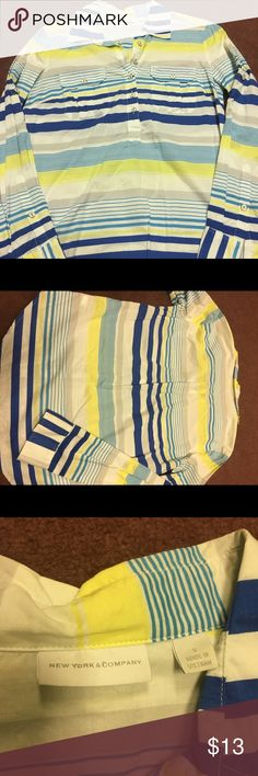 New York & Company blouse Excellent condition stripe top size small New York & Company Tops Blouses