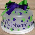 cake plate done with vynal