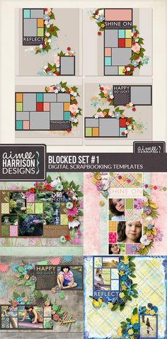 Blocked is a series of Templates with blocked elements and are perfect for so many different sorts of layouts and kits. This is scrapping made quick & easy!