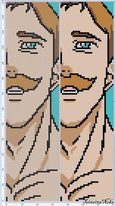 Photo Minecraft Pixel Art, Minecraft Designs, Minecraft Buildings, Beaded Cross Stitch, Cross Stitch Charts, Cross Stitch Patterns, Anime Pixel Art, Art Anime, Seven Deadly Sins Anime