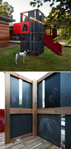 chalkboard playhouse / playground
