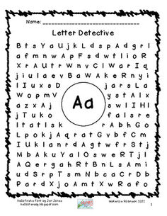 Find a Letter: Letter Detective. Much easier than a word search for young kids