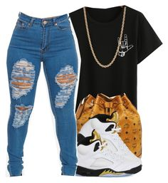 """"" by eazybreezy305 on Polyvore featuring Givenchy, MCM, NIKE, DOPE and 2016"