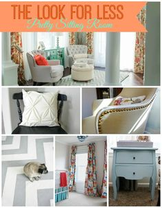 DIY Home Ideas | Get the look of this coral and mint sitting room for LESS!