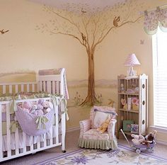 Nursery with Storybook Inspiration Inspired by Beatrix Potter books from her childhood, this first-time mother and her sister combed flea markets for unique treasures and created a nostalgic nursery with design elements that her daughter would enjoy for years to come. With a few changes, the homeowner anticipates her daughter loving the room though her teen years.