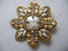 Large Miriam Haskell vintage brooch pin by OldEnglishRoses on Etsy
