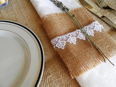 Set  of 25 Hessian  Burlap Napkin Rings by MadeInBurlap on Etsy, $30.00