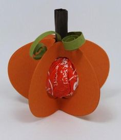 Tootsie Pop Stand Up Pumpkin tutorial