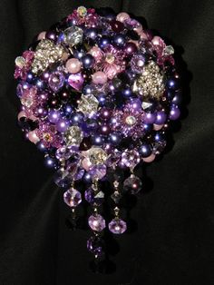 Glamour pearl and crystal bouquet by CrystalWeddingUK on Etsy, £95.00