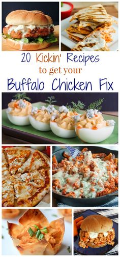 20 Kickin' Recipes to Get Your Buffalo Chicken Fix (even come without chicken!) - just in time for football season and all of your tailgate parties!