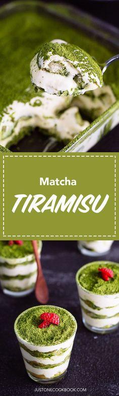 Matcha Tiramisu 抹茶ティラミス • Just One Cookbook