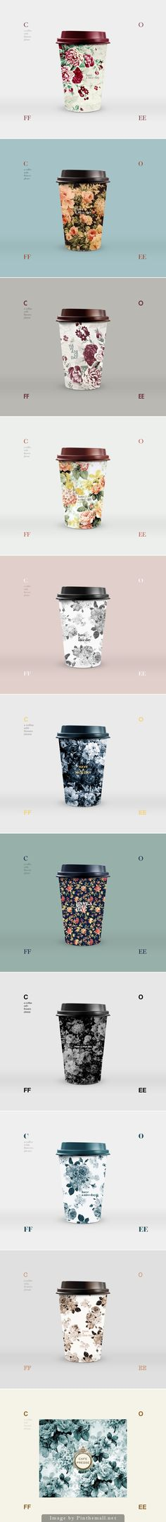 Coffee with flowers. Graphic Design, Packaging, Pattern Design
