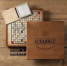 Damn Words with Friends has made me fall in love with Scrabble. This may just be beautiful enough to pull me away from the digital version. $199