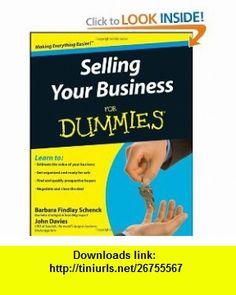Selling Your Business For Dummies (9780470381892) Barbara Findlay Schenck, John Davies , ISBN-10: 0470381892  , ISBN-13: 978-0470381892 ,  , tutorials , pdf , ebook , torrent , downloads , rapidshare , filesonic , hotfile , megaupload , fileserve