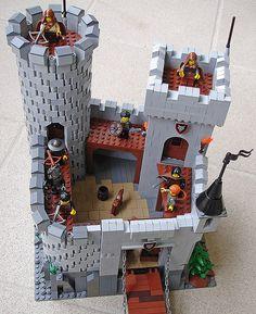 Stronghold Wolf - by Pjurkovi Legoland, Lego Knights, Lego Army, Lego Ship, Lego Craft, Lego Trains, All Lego, Lego Mecha, Lego Blocks
