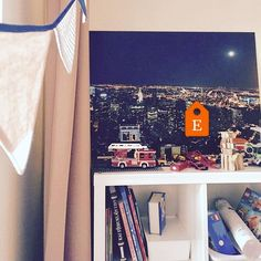 The #NewYork 🗽 night skyline in my son's room. It is perfect background for his #LEGO collection. Big stories are born evenings, when we creating LEGO tales at bedtime 🌃 ❤ More info of this print, take a look in my Print Shop ---> http://etsy.me/2lIZIzT    Be inspired by my design shop ---> http://etsy.me/2fxT7Gd   Fine Art Photography by #MartynaTrinkuniene { Follow me on Instagram @martyna_trinkuniene }