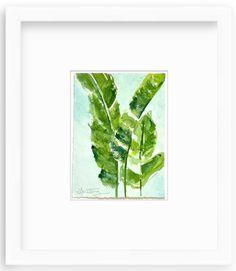 Laura Trevey - Palm Leaf Watercolor Original