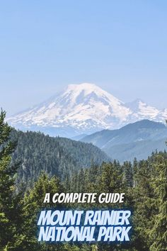A complete guide to Mount Rainier National Park. Washington national parks   hikes in Washington Washington camping   bellevue Washington things to do   national parks USA   USA national parks #MountRainierNationalPark #USAnationalparks #nationalparks Washington Camping, Washington Things To Do, Best National Parks Usa, National Park Camping, Washington Nationals Park, Mt Rainier National Park, Mount Rainier, State Parks, Bellevue Washington