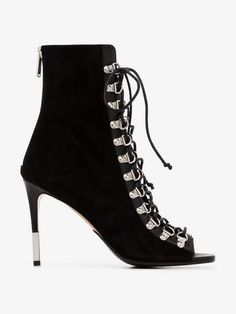 Shop Balmain Club 95 suede ankle boots from our Lace-up Shoes collection. Brown Ankle Boots, Leather Ankle Boots, Suede Boots, Suede Leather, Black Suede, Balmain, Ankle Straps, Lace Up Shoes, Shoe Collection