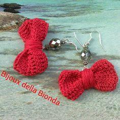 Orecchini fiocchi all'uncinetto… i love crochet!!!!