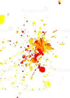 Векторная графика Акварельные оранжевые пятна, Freelance.Discount