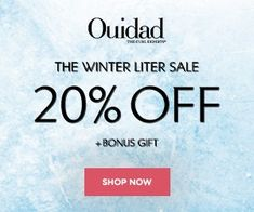 Enjoy off all liter sized products with DeluxHair's affiliate partner Ouidad for their winter sale. Affiliate Partner, Natural Haircare, Winter Sale