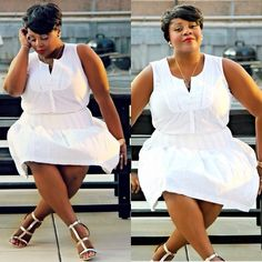 curv-envy: Key to wearing all white? All White Outfit, White Outfits, White Dress, Curvy Girl Fashion, Plus Size Fashion, Plus Size Dresses, Nice Dresses, Plus Size Chic, All About Fashion