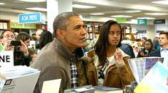 President Obama and Malia out for an evening of shopping.