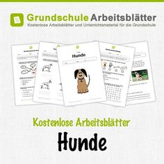 Kostenlose Arbeitsblätter und Unterrichtsmaterial für den Sachunterricht zum Thema Hunde in der Grundschule.