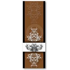 Damask Wildflowers, CELINE in Brown & Black Business Cards