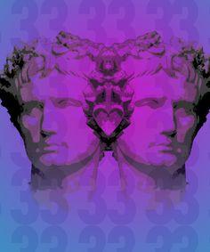 ' by mycko Julius Caesar, Fictional Characters, Design, Vaporwave Art, Fantasy Characters