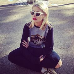 ♔ Made in Chelsea : Photo Made In Chelsea, Kurt Cobain, Hair Inspo, Fashion Models, Short Hair Styles, Sunglasses, Outfits, Clothes, Squad